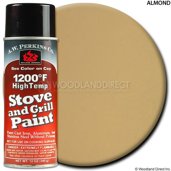 A.W. Perkins Almond Spray On Stove Paint - Large image number 0