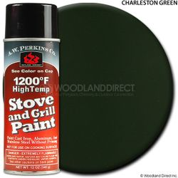 1200º  Charleston Green Stove Paint-12 oz Spray On