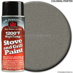 1200º  Colonial Pewter Stove Paint-12 oz Spray On