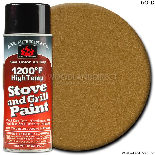 A.W. Perkins Gold Spray On Stove Paint - Large image number 0