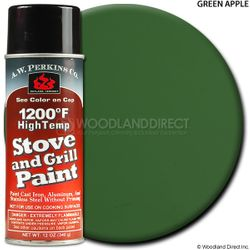 1200º  Green Apple Stove Paint-12 oz Spray On