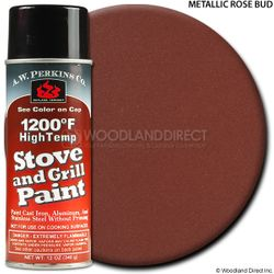 1200º  Rosebud Metallic Stove Paint-12 oz Spray On