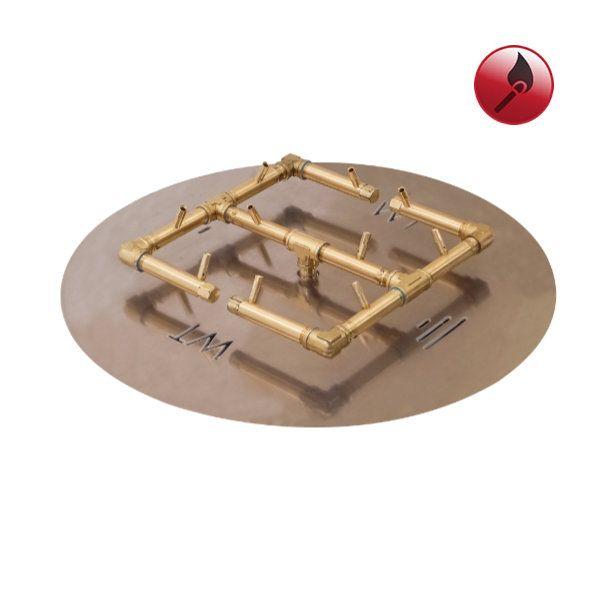 """120,000 BTU Round Match Lit Crossfire Burner System - 24"""" image number 0"""