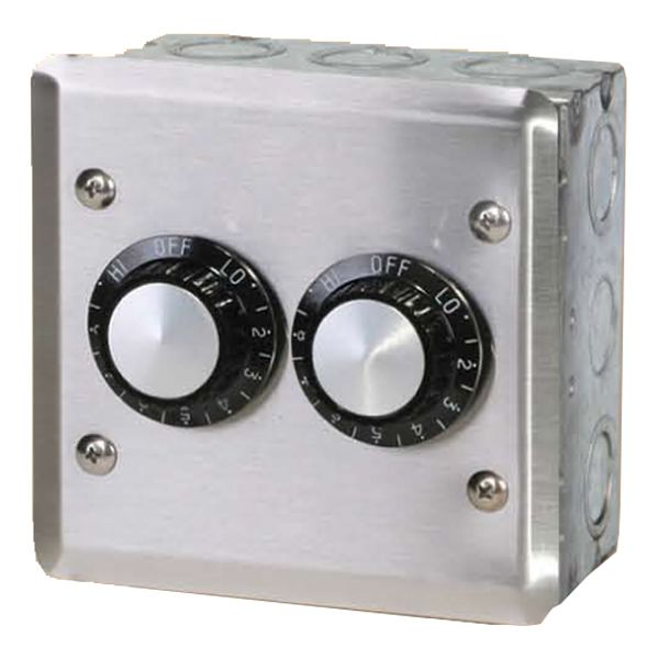 120V Infratech Double Regulator with Wall Plate & Gang Box image number 0