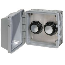 120V Infratech In-Wall Double Regulator Box with Cover