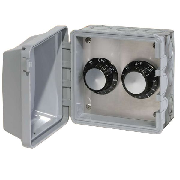 120V Infratech In-Wall Double Regulator Box with Cover image number 0