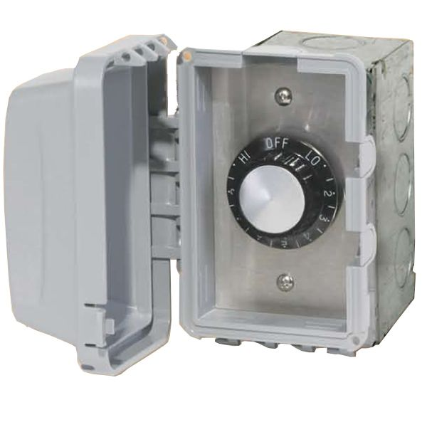 120V Infratech In-Wall Single Regulator Box with Cover image number 0