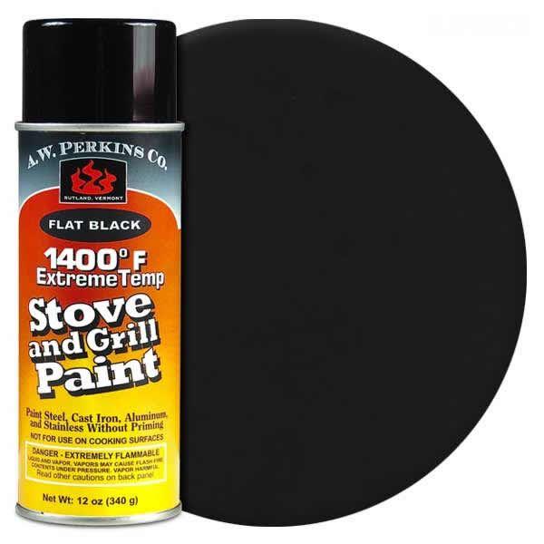 1400º Black Stove Paint-12 oz Spray On image number 0
