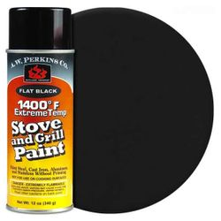 1400º Black Stove Paint-12 oz Spray On