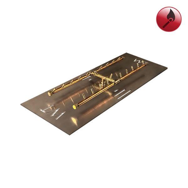 """160,000 BTU Match Lit Crossfire H-Burner System - 34"""" image number 0"""