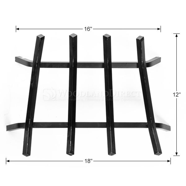 "4-Bar Fireplace Grate - 18"" image number 1"