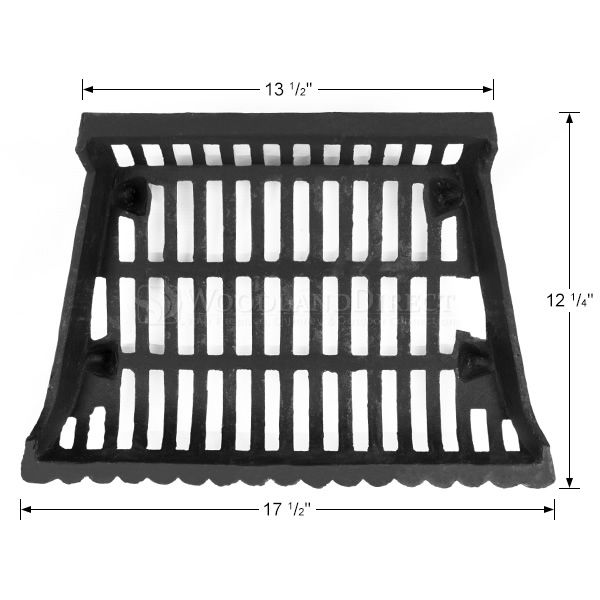 """Cast Iron Fireplace Grate - 18"""" image number 1"""