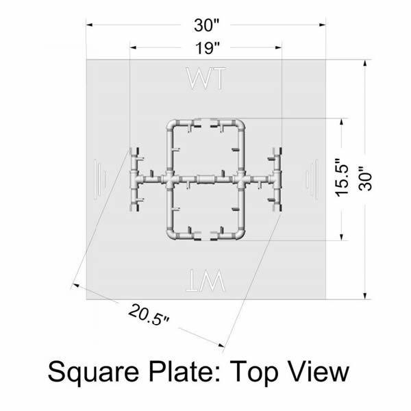 """180,000 BTU Square Electronic Crossfire Burner System - 30"""" image number 2"""
