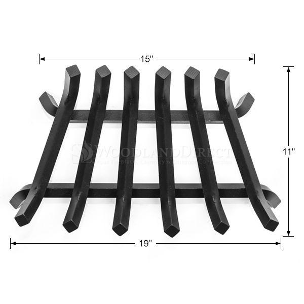 "Stronghold Zero Clearance Lifetime Fireplace Grate - 19"" image number 1"