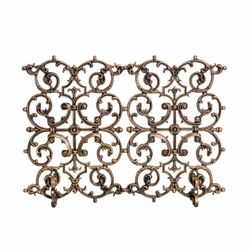 2 Panel Classic Cast Iron Fireplace Screen