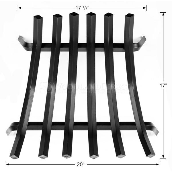 "6-Bar Tapered Fireplace Grate - 20 1/2"" image number 1"
