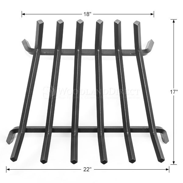 "Oxford 5/8"" Steel Fireplace Grate - 22"" image number 1"