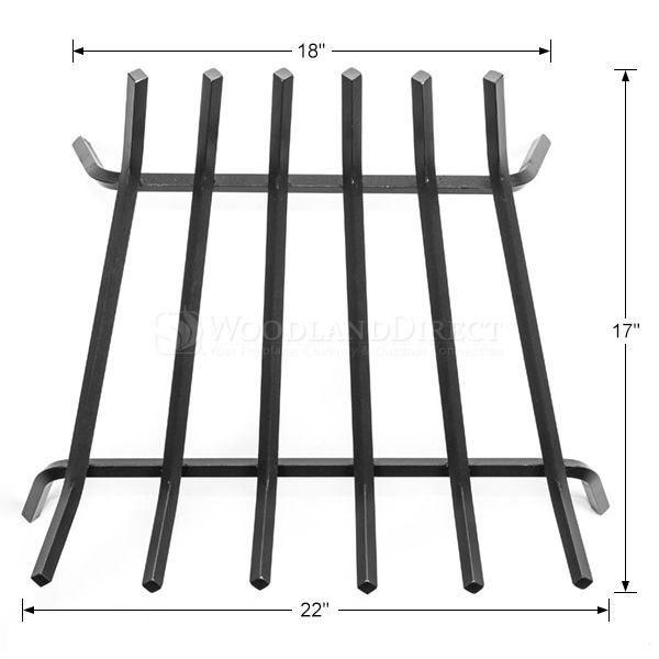 """Oxford 1/2"""" Steel Fireplace Grate - 22"""" image number 1"""