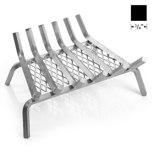 "Lumino Stainless Steel Ember Lifetime Fireplace Grate - 22"" image number 0"