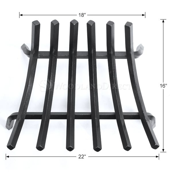 "Stronghold Contoured Lifetime Fireplace Grate - 22"" image number 1"