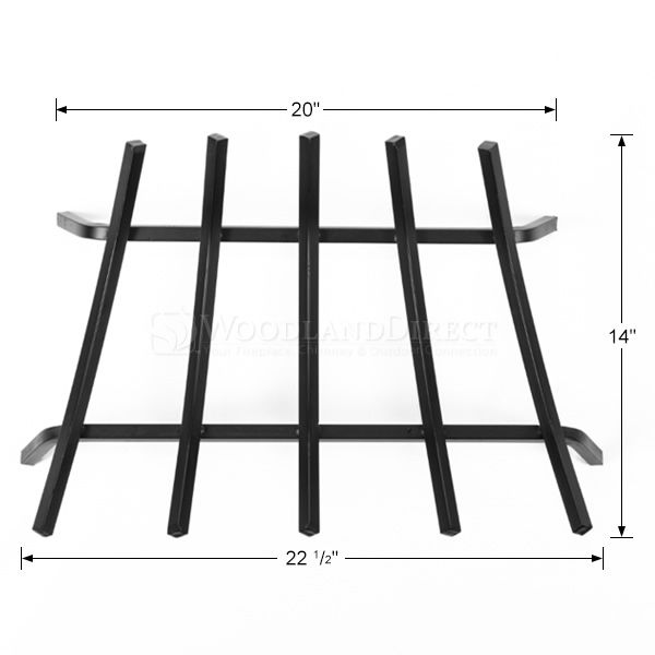 "5-Bar Fireplace Grate - 23"" image number 1"