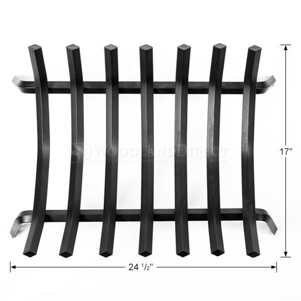 "7-Bar Rectangle Fireplace Grate - 24 1/2"" image number 1"