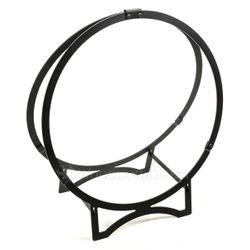 "24"" Stronghold Black Steel Log Hoop"