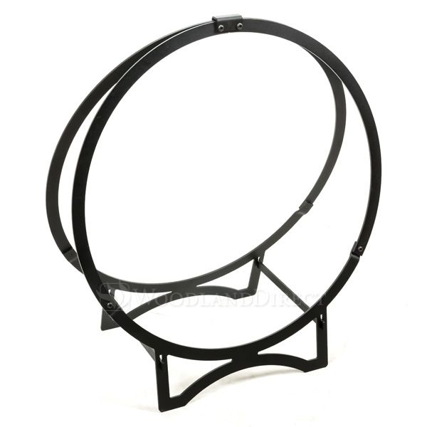 "24"" Stronghold Black Steel Log Hoop image number 0"