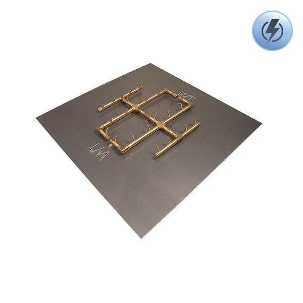 """240K BTU Square Electronic Crossfire Burner System - 30"""" image number 0"""