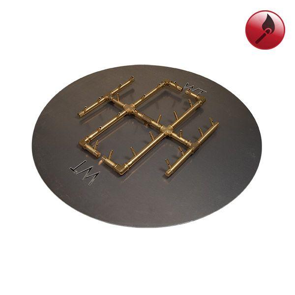 """240K BTU Round Match Lit Crossfire Burner System - 30"""" image number 0"""