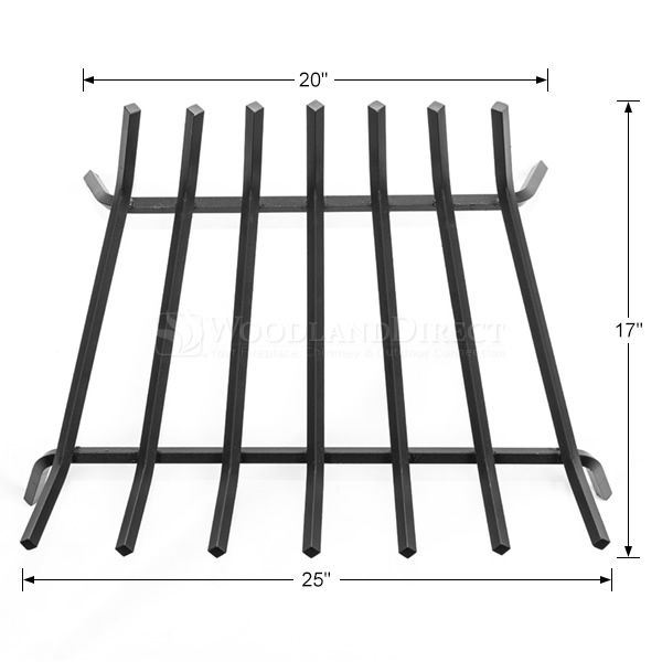 """Oxford 1/2"""" Steel Fireplace Grate - 25"""" image number 1"""