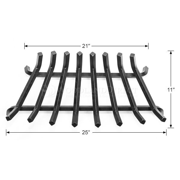 """Oxford 5/8"""" Steel Zero Clearance Fireplace Grate - 25"""" image number 1"""