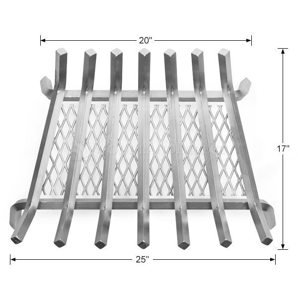 "Lumino Stainless Steel Ember Lifetime Fireplace Grate - 25"" image number 1"