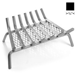 "25"" Lumino Stainless Steel Ember Lifetime Fireplace Grate"