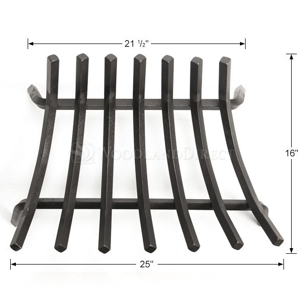 "Stronghold Contoured Lifetime Fireplace Grate - 25"" image number 1"
