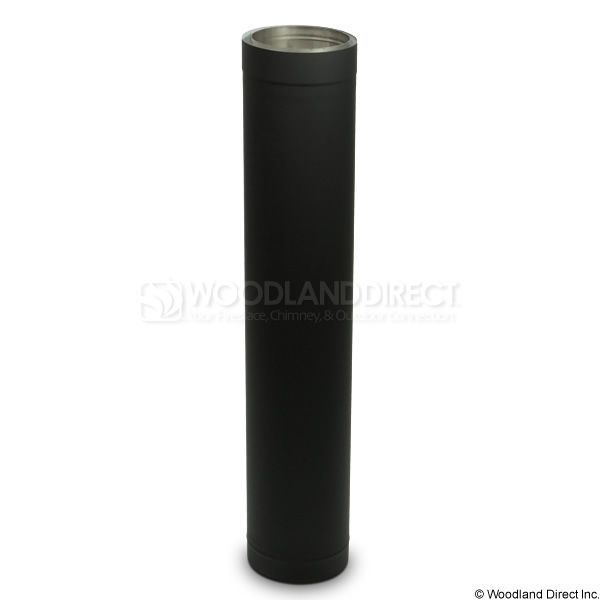 "7"" Diameter Champion Premium Double Wall Black Stove Pipe - 36"" image number 0"