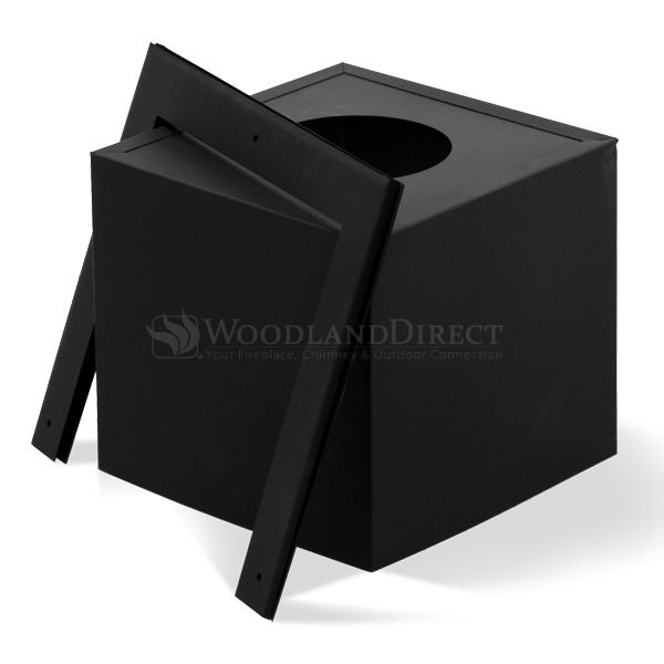 """3"""" Daimeter Champion Painted Blk Square Ceiling Support for Pellet Pipe-11"""" image number 0"""