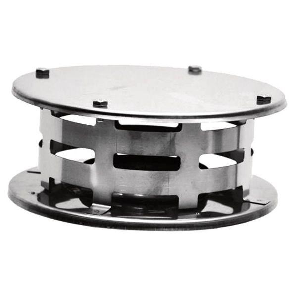 "4"" Diameter Champion Stainless Steel Vertical Rain Cap for Pellet Pipe image number 0"