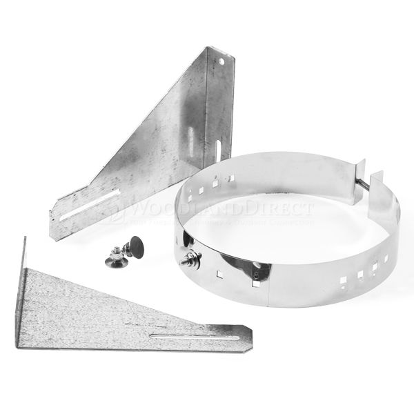 """3"""" Diameter Champion Wall Support for Pellet Pipe image number 0"""