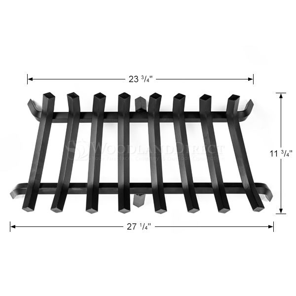 "8-Bar Zero-Clearance Fireplace Grate - 27 1/2"" image number 1"
