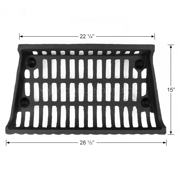 """Cast Iron Fireplace Grate - 27"""" image number 1"""