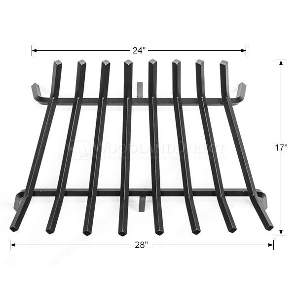 "Oxford 5/8"" Steel Fireplace Grate - 28"" image number 1"