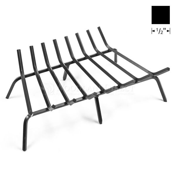 "Oxford 1/2"" Steel Fireplace Grate - 28"" image number 0"