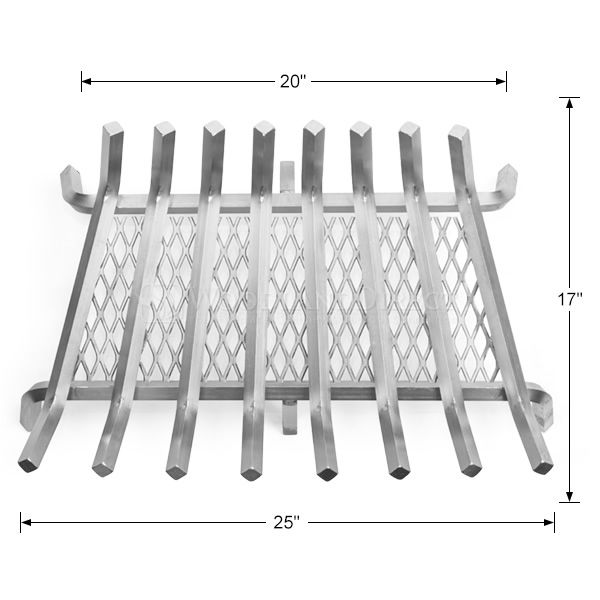 "Lumino Stainless Steel Ember Lifetime Fireplace Grate - 28"" image number 1"