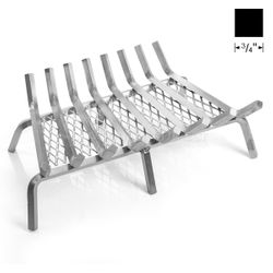 """28"""" Lumino Stainless Steel Ember Lifetime Fireplace Grate"""