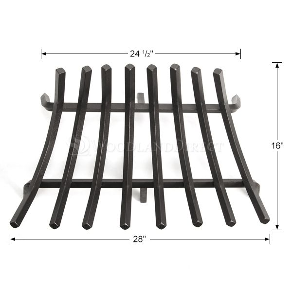 "Stronghold Contoured Lifetime Fireplace Grate - 28"" image number 1"