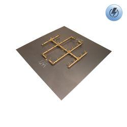 "290K BTU Square Electronic Crossfire Burner System - 36"""