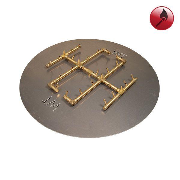"""290K BTU Round Match Lit Crossfire Burner System - 36"""" image number 0"""