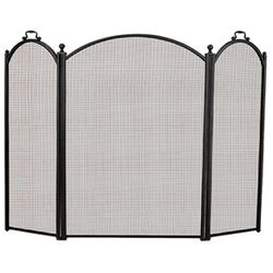 3-Panel Arched Fireplace Screen - Large