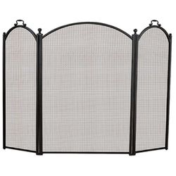 3-Panel Arched Fireplace Screen - Medium